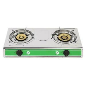 Outdoor Portable Propane Gas Double 2 Burner Camping Stoves 20000BTU BBQ Grill