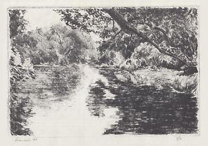 Signed amp; Matted Lithograph Reflections In A Stream ltd. ed. 1 of 2 O. Marrero $20.00
