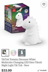 Tommy Dino Dinosaur Color Changing Lamp LED Night Light up TIK TOK IN HAND $39.99