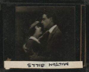 SILENT FILM STAR MILTON SILLS magic lantern glass slide