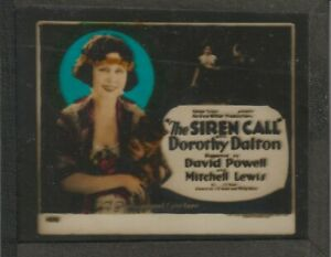 SILENT ERA SIREN CALL Dorothy Dalton magic lantern glass slide