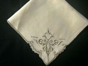 Eight Vintage Madeira Embroidery Off white Dinner Napkins 17 1 2quot; SQ Never Used $14.99