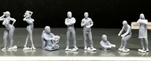 1:64 Scale Miniature People Resin unpainted great for Dioramas #32 Figures