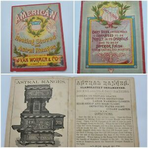 Antique American Astral Ranges Advertising Booklet Albany NY J Van Wormer $25.00
