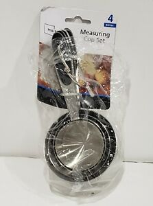4 Piece Stainless Steel Measuring Cup Set mainstays $3.99