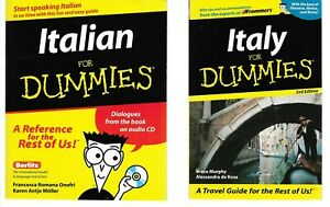 Italian For Dummies w CD Italy For Dummies 2 Books FREE SHIPPING