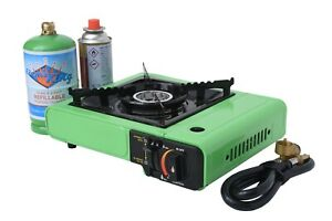 Portable Multi Fuel Butane or Propane Camping Stove Burner with Carry Case