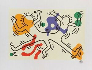 KEITH HARING quot;French Dancersquot; Lithograph Art Printed in France1992 $49.99
