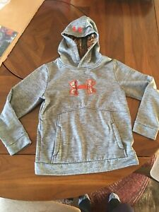 Under Armour boys hoodie in gray camo youth Medium $12.99