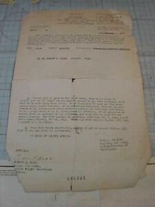ORIGINAL WWII AVG FLYING TIGERS TRIPLE ACE SECRET P 51 FERRYING DOCUMENT 23RD $489.88
