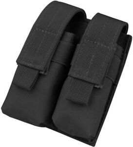 Tactical Molle Dual Pistol Magazine Pouch Holster Gun Mag Holder for Hunting $10.97