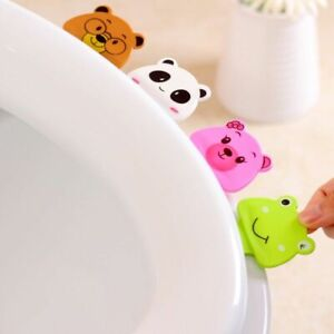 Creative Toilet Portable Cover Cartoon Non Slip Dirty Hands Opened Lifting Tool