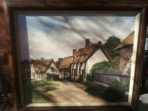Antique Painting English Villiage $250.00