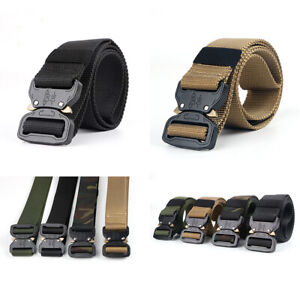 US Casual Military Tactical Belt Mens Army Combat Waistband Rescue Rigger Belts