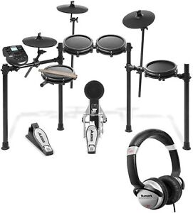 Alesis Nitro Mesh 8 Piece Electronic Drum Kit with Sticks Numark Headphones $379.00