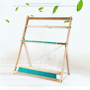 Multi Craft Weaving Loom w Stand Wooden Looming Set For Children Christmas Gift