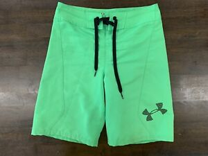 Under Armour Shorts Boys Size 25 Green $11.96