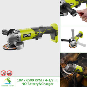 RYOBI 18V Angle Grinder 6500 RPM 4 1 2 in Adjustable Handle Grinding Guard Wheel $53.99