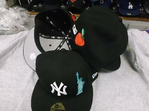 NY Yankees New Era 59Fifty NAVY Limited Edition Team Describe Fitted FREE CARDS $41.99