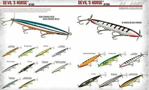 Smithwick Devils Horse Family Wood Fishing Lure F 100 amp; F 200 Series