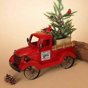 Gerson 18.9quot;L Metal Antique Red Truck with 3 Season Magnets $55.20