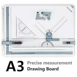 Architect A3 Drafting Drawing Board Ruler Table Adjustable Angle Art Draw Tools $28.99