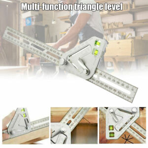 Multi Angle Ruler Universal Carpenter tool Spirit Level Combination Square Gauge $10.99