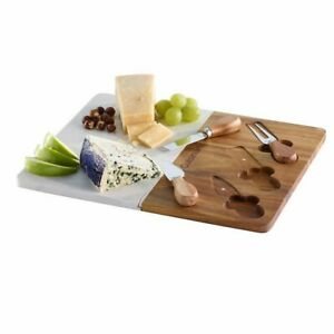 Cuisinart 4 piece Cheese Knife Set Charcuterie Board. FREE SHIPPING $42.99