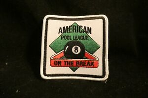 American Pool League On The Break 8 Ball Patch $3.99