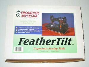 Feather#x27;Tilt Ergonomic Sewing Table for the Singer Featherweight and others $39.95