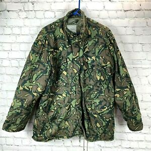 Vintage Winchester Hunting Coat Camo Removable Lining size L Men Zip Jacket