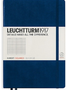 Leuchtturm 1917 Navy Blue Squared Hardcover Large Dimensions 145 x 210 mm $19.99