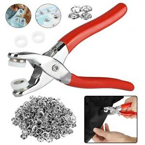 Prong Pliers Ring Press Studs Snap Buttons Popper Fasteners DIY Sewing Tool Kit $12.98