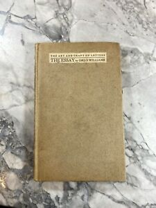 Circa 1910 Antique Literature Book quot;The Essay by Orlo Williamsquot; $15.00