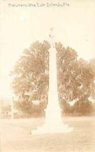 Orlando Florida Confederate Monument Lake Eola Real Photo Postcard AA28934 $29.00