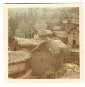 Vintage Photo Indian Town Near Pisac Peru 1960#x27;s DST85 b