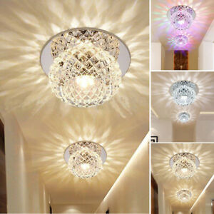 Modern Crystal Colorful Ceiling Light Lamp Home Bulb Interior Decors Home 220V C $26.20