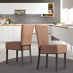 Luckyermore Dining Chairs Set of 2 Furniture Armless Cafe Upholstered Seat Home $229.99