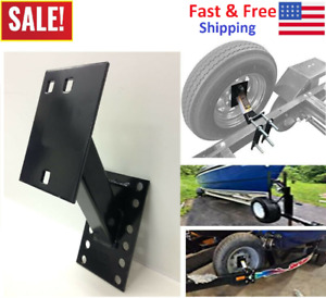 Boat amp; Utility Enclosed Trailer Spare Tire Mount Carrier Wheel Cargo Holder NEW