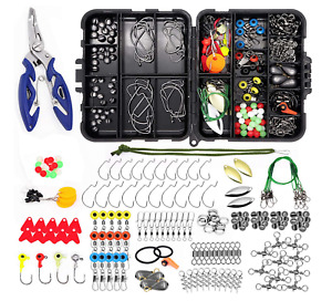 Fishing Accessories Kit 188PCS Set with Tackle Box Including Pliers