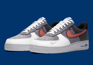 Nike Air Force 1 07 Shoes White Sports Red Gray Green CU5625 122 Mens NEW $105.99