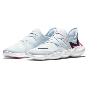 Nike Womens Free RN 5.0 Running Shoes White Hyper Pink Black AQ1316 101 NEW $57.99