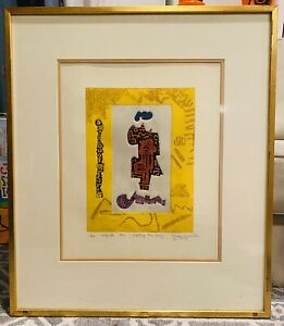 Ynez Johnston Mixed Media Signed And Numbered Meeting The Envoy $400.00