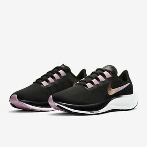 Nike Womens Air Zoom Pegasus 37 Running Shoes Black Red Bronze BQ9647 007 NEW $82.99
