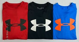 Boy#x27;s Youth Under Armour Heat Gear Loose Long Sleeve Polyester Shirt Size S