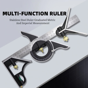 3 In 1 Adjustable Ruler Set Multi Combination Measuring Tool Right Square Angle $19.99