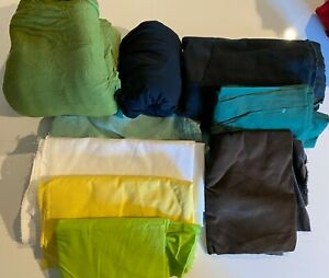 Large Box of Fabric for Crafts Sewing. Cotton Corduroy Linen. Box 2. $0.99