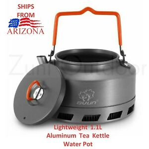 1.1L Lightweight Aluminum Outdoor Camping Cookware Water Tea Kettle Coffee Pot