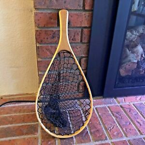 Vintage Fly Fishing Net Wood Oval 14quot; Same Day Shipping