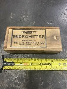 starrett no. 209 C micrometer wood box $19.99